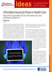Affordable Housing's Place in Health Care