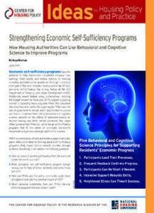 Strengthening Economic Self-Sufficiency Programs