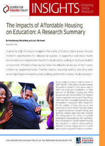 The Impacts of Affordable Housing on Education